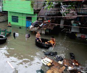 PHILIPPINES-QUEZON CITY-HEAVY RAIN