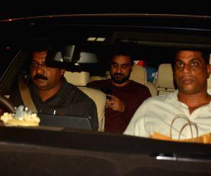 Shilpa Shetty and Raj Kundra seen at a restaurant in Bandra