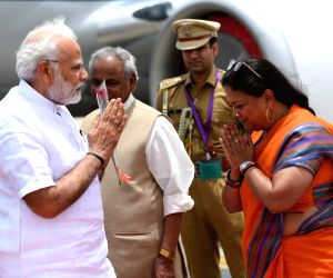 PM Modi arrives in Jaipur