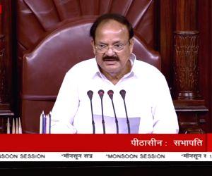 Rajya Sabha Chairman M. Venkaiah Naidu during the monsoon session at Parliament House on July 18, 2018.