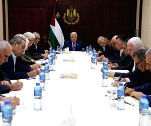 RAMALLAH, July 20, 2019 - Palestinian President Mahmoud Abbas (C) attends a meeting of Fatah's Central Committee in the West Bank city of Ramallah, July 20, 2019. Mahmoud Abbas on Saturday reiterated ...