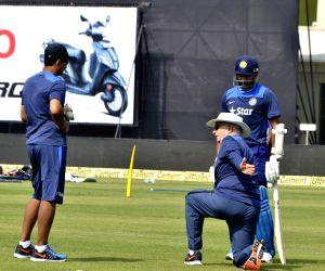 Indian cricketer during practice session