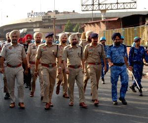 RAF, Punjab Police conduct flag march ahead of the 34th anniversary Operation Blue Star