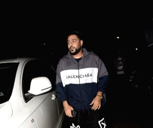 Rapper Badshah at actor Arjun Kapoor's birthday celebration in Juhu, Mumbai on April 26, 2018.