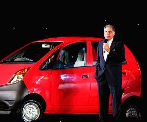 Ratan Tata at the launch of his Dream Car