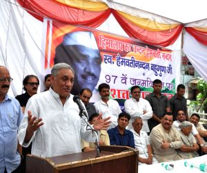 Vijay Bahuguna during 97th birth anniversary of Hemvati Nandan Bahuguna