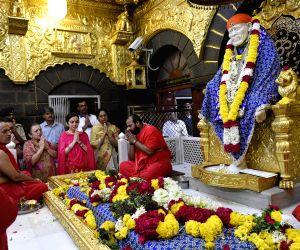 Nita Ambani pays obeisance at Shirdi Sai Baba Temple