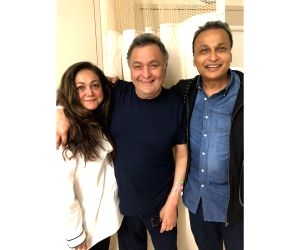 Reliance Group Chairman Anil Ambani and his wife Tina Ambani visited veteran actor Rishi Kapoor, who is undergoing medical treatment here since last year. The 66-year-old actor posted a photograph of ...
