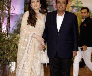 Sonam Kapoor and Anand Ahuja's wedding reception - Mukesh Ambani and Nita Ambani
