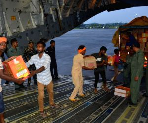 Halwara (Punjab): Kerala Floods - Relief material being dispatched