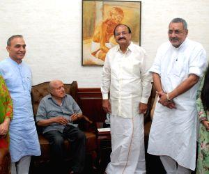 M.S. Swaminathan meets Venkaiah Naidu