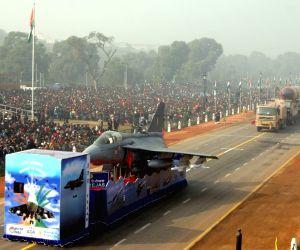 Republic day rehearsal at Rajpath on Saturday New Delhi, 23 Jan 2010.