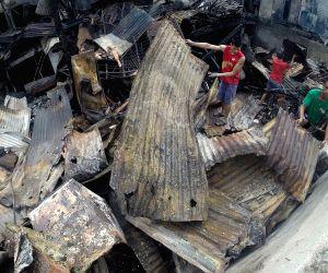 PHILIPPINES MANILA SLUM FIRE AFTERMATH