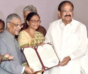 Vice President-elect Venkaiah Naidu receives declaration of result for the election for the Vice President