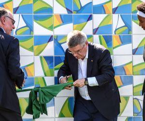 BRAZIL-RIO DE JANEIRO-OLYMPICS-TRUCE WALL