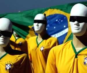 Protest against the high cost of the FIFA World Cup Brazil 2014