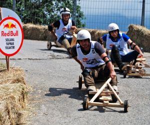The wood wheeled racing cars