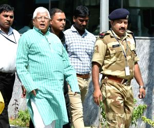 Lalu Yadav arrives at CBI headquarters