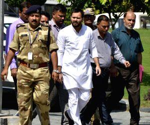 IRCTC case: Tejaswi Yadav appears before CBI