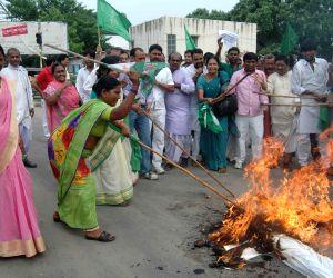 RJD demonstration against Rail budget 2014-15