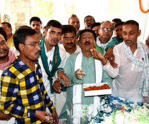 RJD workers celebrate birthday of Lalu Prasad Yadav in Patna on June 11, 2019.