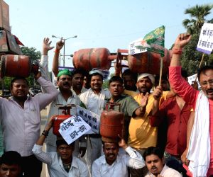 RJD demonstration against hike in fuel prices