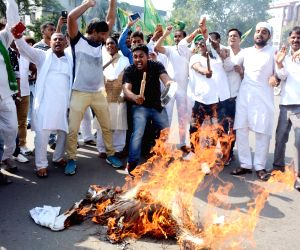 RJD's demonstration against hike in fuel prices