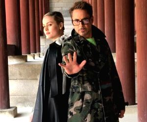 Robert Downey Jr. and Brie Larson.