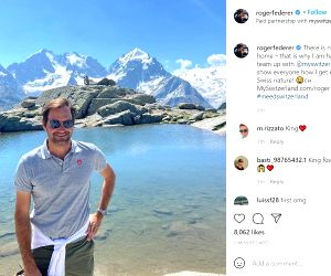 Free Photo: ROGER FEDERER TEAMS UP WITH SWITZERLAND TOURISM!auba.