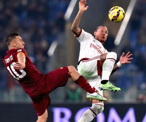 Rome (Italy): Serie A - AS Roma and AC Milan