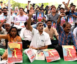Demonstration against the death of RSS worker