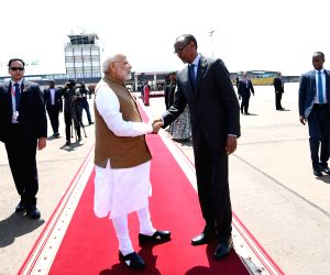 Kigali (Rwanda): PM Modi departs from Rwanda
