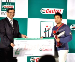 Sachin Tendulkar at Castrol Cricket Awards at Grad Hyatt.