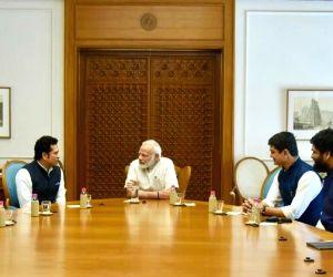 Sachin Tendulkar receives Modi's blessings for film