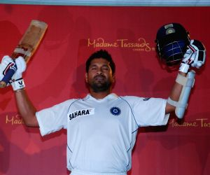 Sachin Tendulkar's Wax Statue for Madame Tussauds unveiled in Mumbai.