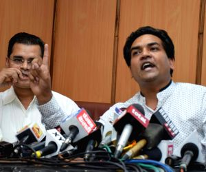 Kapil Mishra's press conference