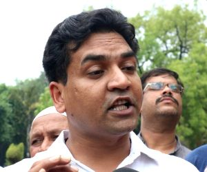 Kapil Mishra at Delhi Assembly