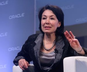 Oracle co-CEO Safra Catz at Oracle Open World Convention