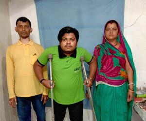 Physically challenged boy clears NEET after travelling miles on crutches