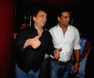 Sajid and Akshay Kumar at Kambaqt Ishq special screening at PVR, in Mumbai.