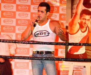 Salman Khan lunches Dixcy Scott innerwear at Mehboob studios.