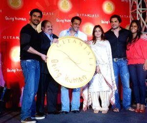 Salman Khan, Sohail Khan and Arbaaz Khan Being Human Coin launch.