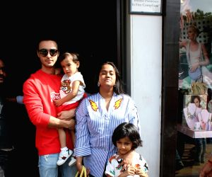 Arpita Khan, Aayush Sharma seen in Bandra