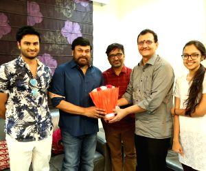 Sammohanam team celebrates success with Megastar Chiranjeevi