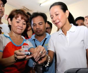 PHILIPPINES-SAN JUAN CITY-PRESIDENTIAL ELECTION-SENATOR GRACE POE