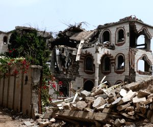YEMEN SANAA DESTROYED HOUSES