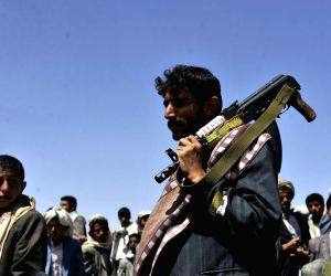 Houthi Fighters rally