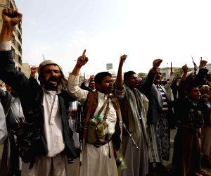YEMEN SANAA PROTEST AIR STRIKES