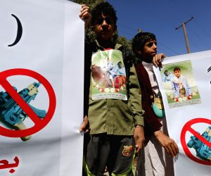 YEMEN-SANAA-PROTEST-STRAY BULLETS