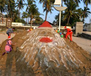 Santa clause's sand sculpture